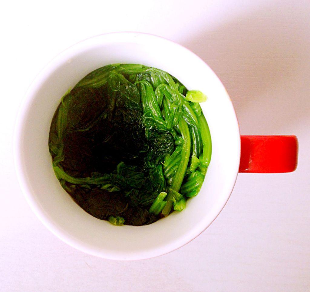 姜汁菠菜的做法图解4