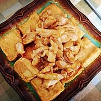 鸡丁爆千叶豆腐