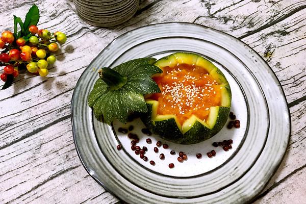 养生元气早餐-红豆薏米南瓜煲#樱花味道#的做法