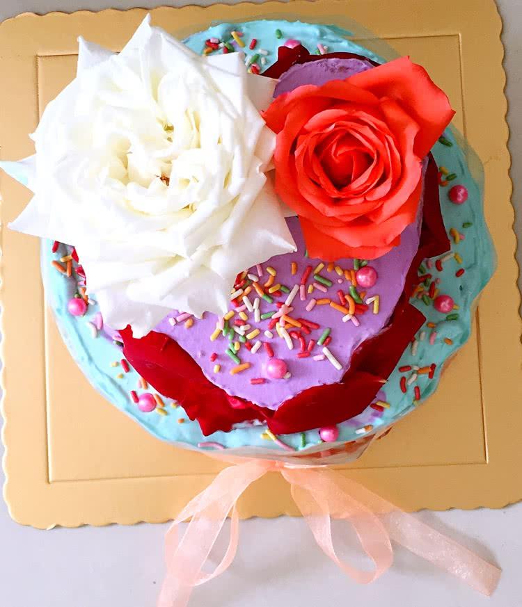 浪漫玫瑰花蛋糕图片