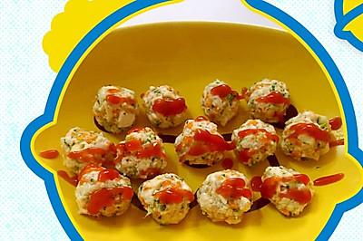 豆腐胡萝卜虾丸 宝宝食谱
