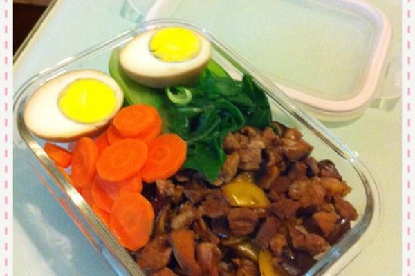 美味卤肉饭便当的做法_【图解】美味卤肉饭便当怎么做