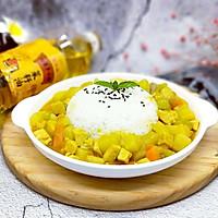 咖喱彩蔬饭#金龙鱼外婆乡小榨菜籽油,我要上春碗#