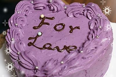 紫薯奶油海绵蛋糕