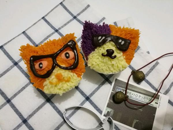 眼镜猫咪cupcake-薯泥玩转裱花