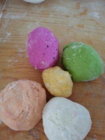 宝宝的彩色糖果饺子的做法步骤