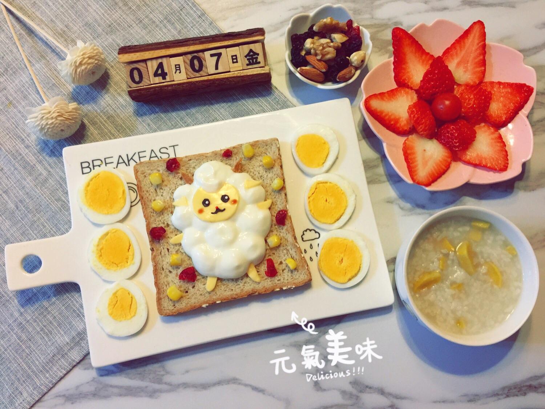 宝宝简单可爱早餐图片