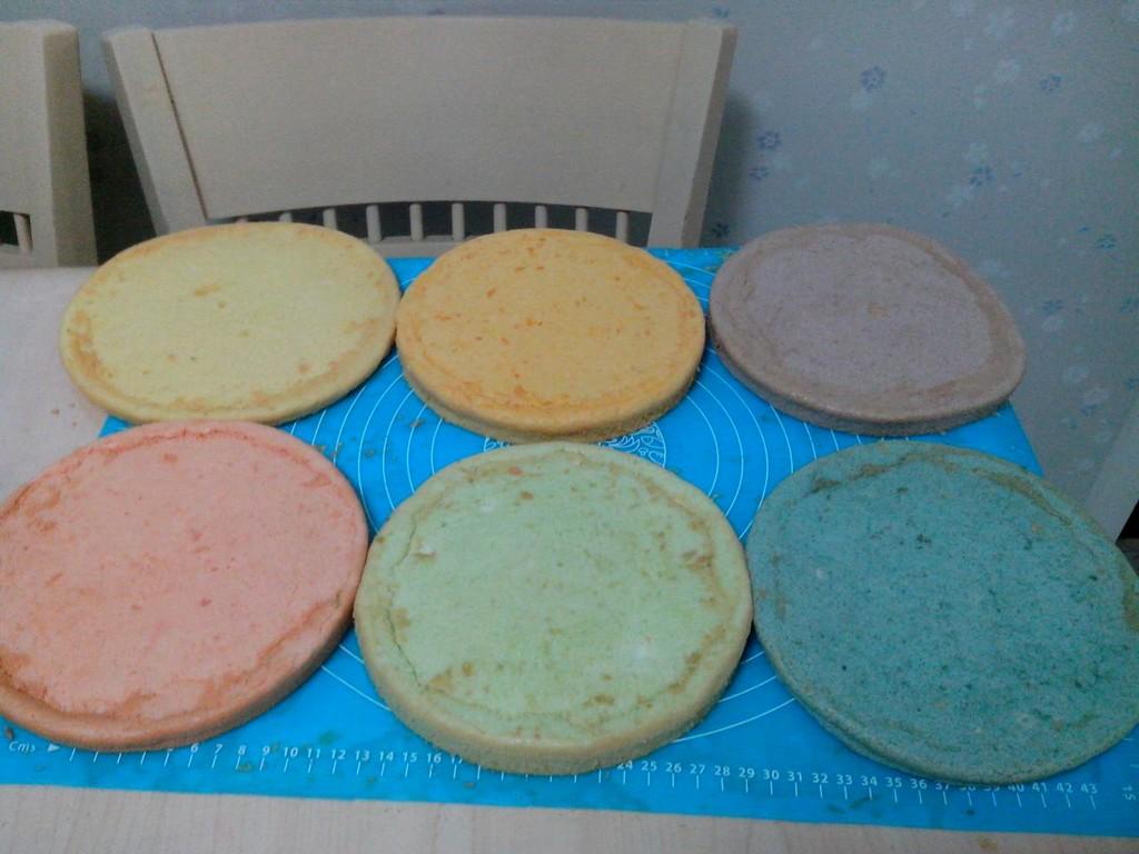 翻糖彩虹蛋糕的做法步骤