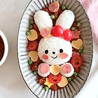 酸酸甜甜萌哒哒,宝贝最爱小白兔意式肉酱饭