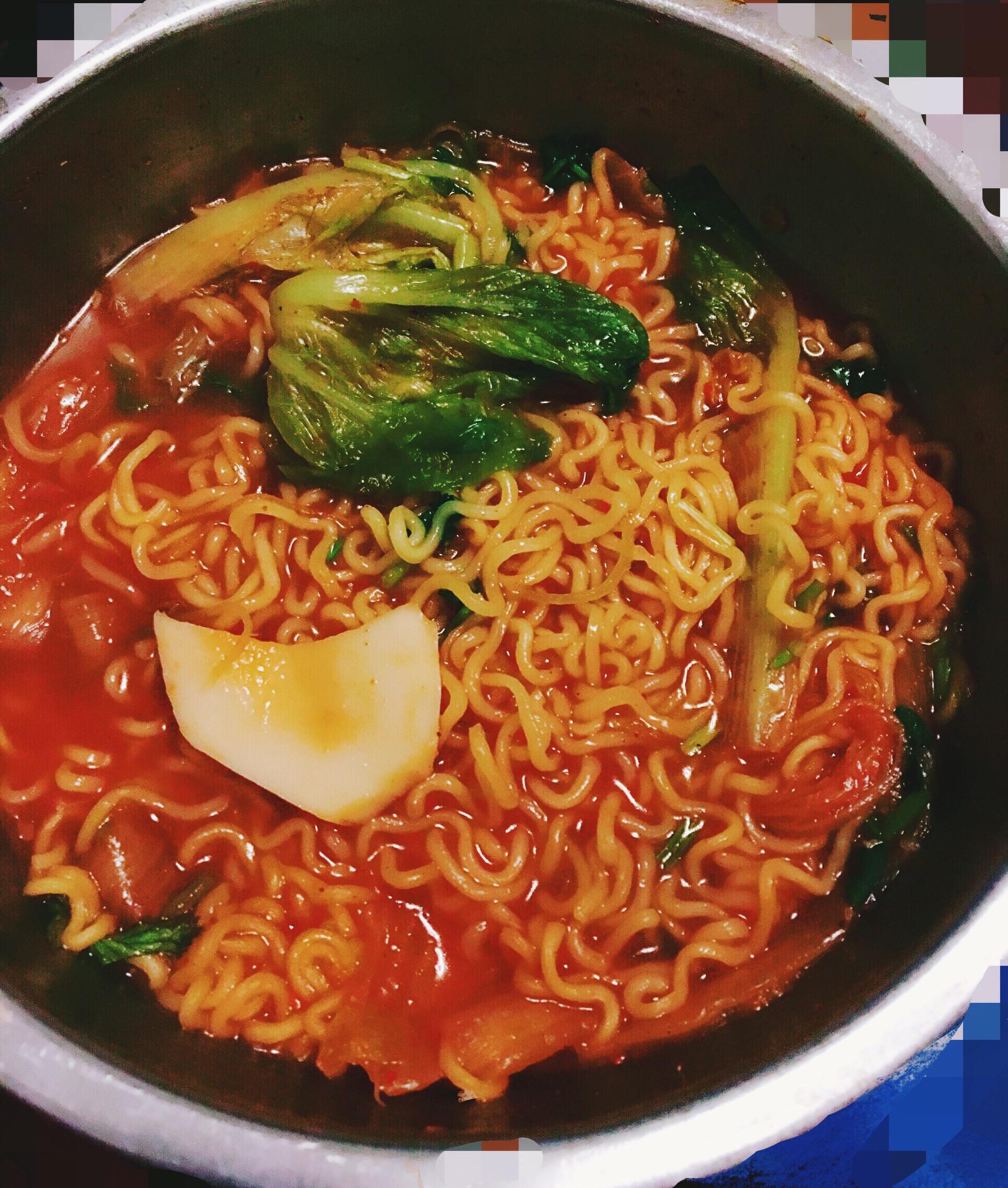 韩国泡菜方便面的做法步骤