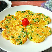 嫩豌豆蔬菜鸡蛋饼#发现粗食之美#