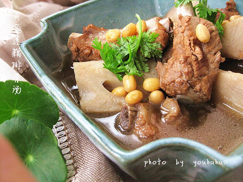 图解 黄豆/黄豆莲藕排骨汤