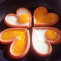 爱心火腿煎蛋