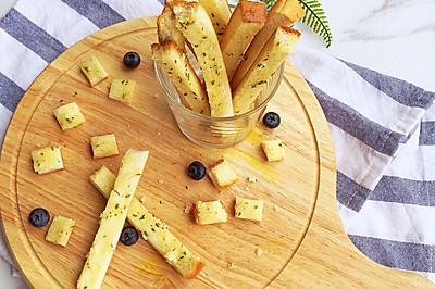 法式香葱面包条 切下来的吐司边有救了