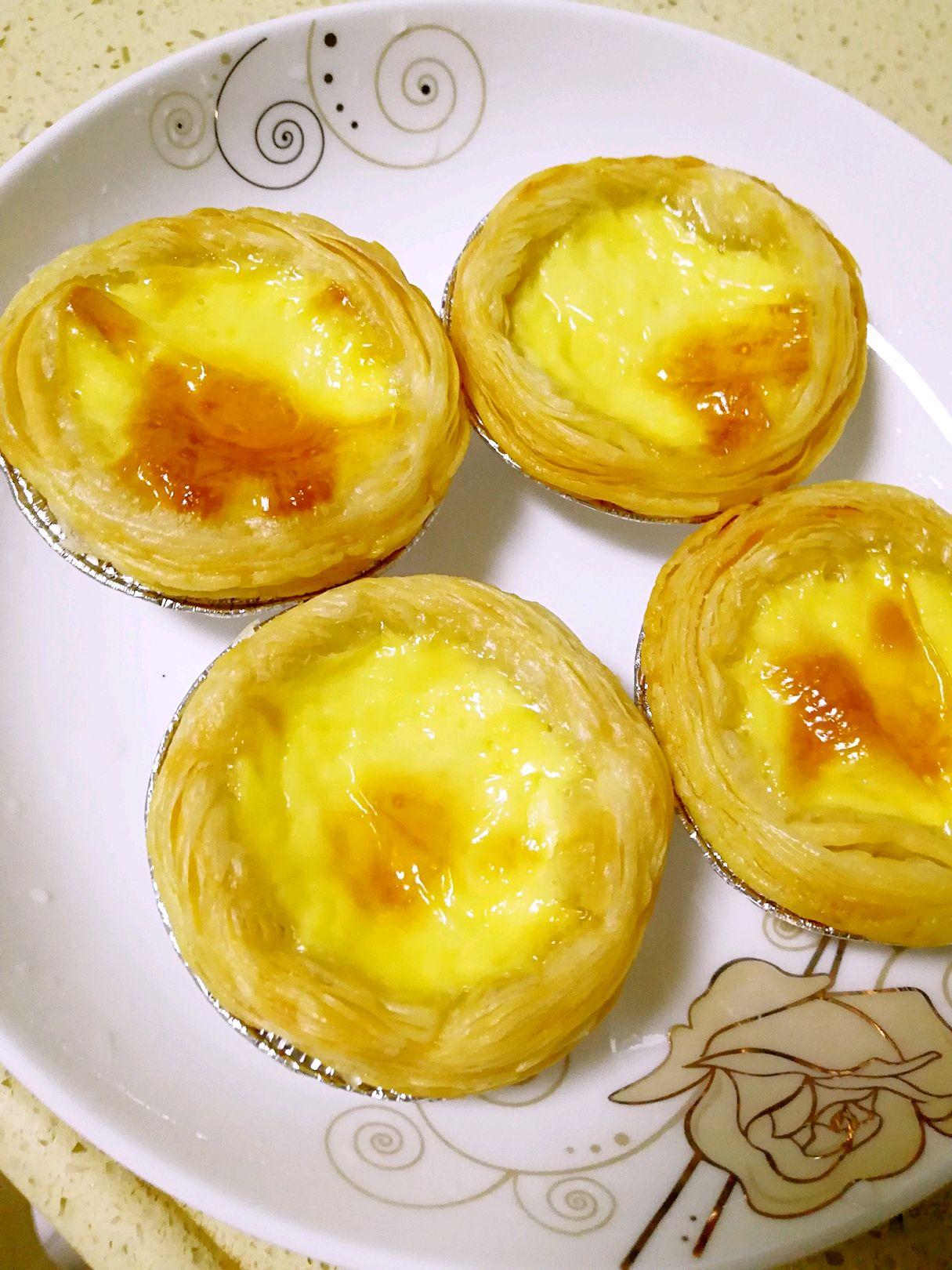 炒菜煲汤临锅时加入提鲜不口干 蛋挞的做法步骤 1.