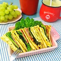 抗饿又营养的早餐:鸡蛋培根三明治