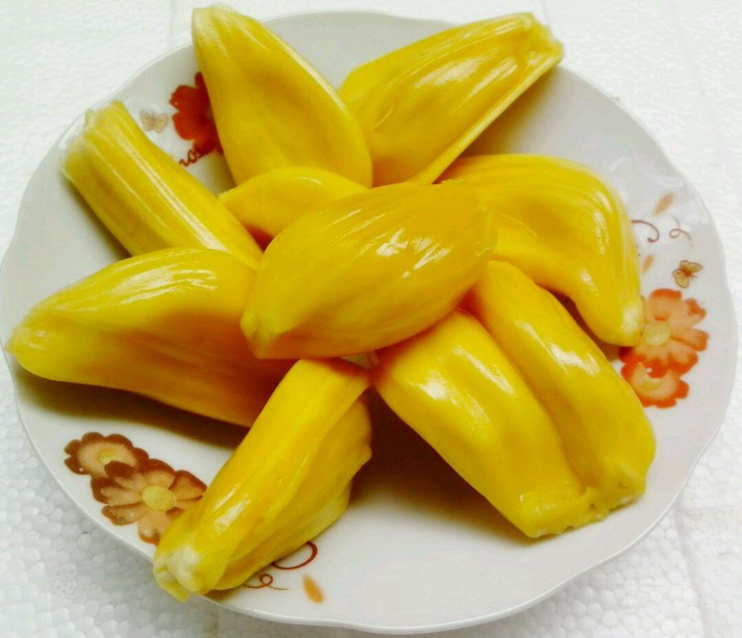 菠萝蜜的果肉不仅非常鲜美,而且还能治疗一些疾病,具有非常广泛的功效。菠萝蜜去掉外皮,里面除了果肉之外,还有菠萝蜜核。很多人在吃菠萝蜜的时候,会将菠萝蜜核丢掉,其实,菠萝蜜的核也是可以吃的,煮熟很好吃,炖汤做菜味道很鲜美,营养充足,是养生补身的好材料!