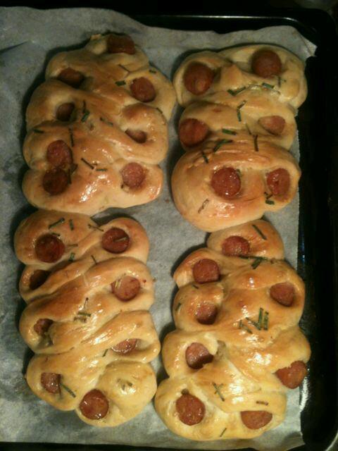 香肠花式面包的做法步骤