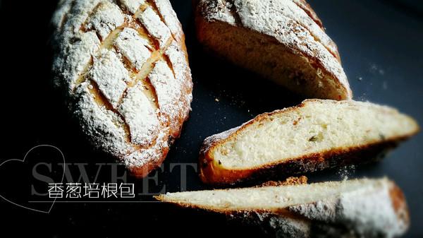 香葱培根面包