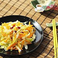 胡萝卜炒圆白菜丝