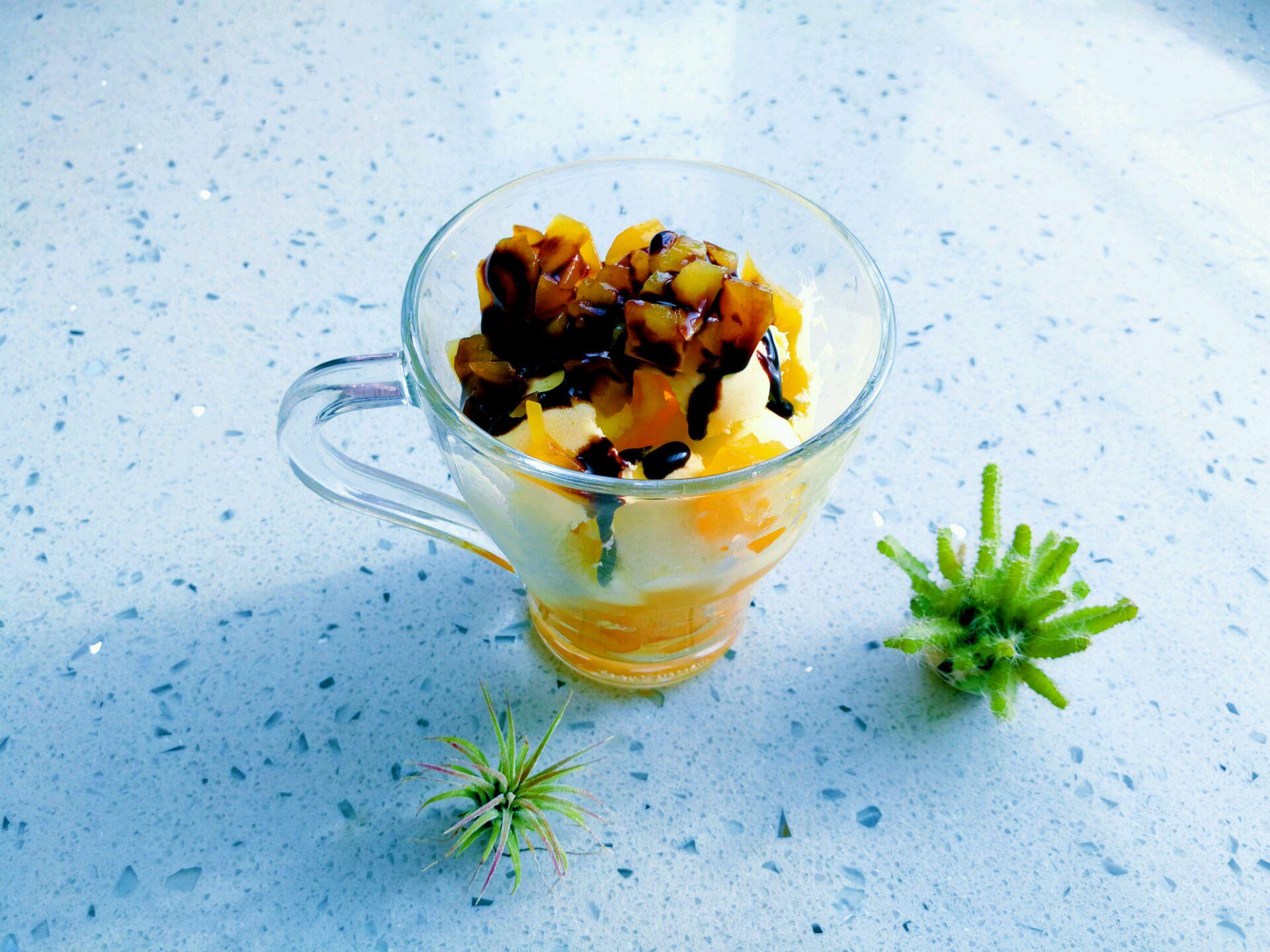 黄桃冰淇淋的做法步骤