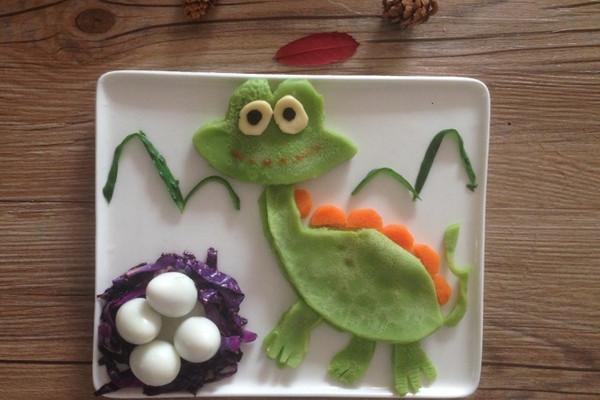 宝宝创意童趣早餐之恐龙图片
