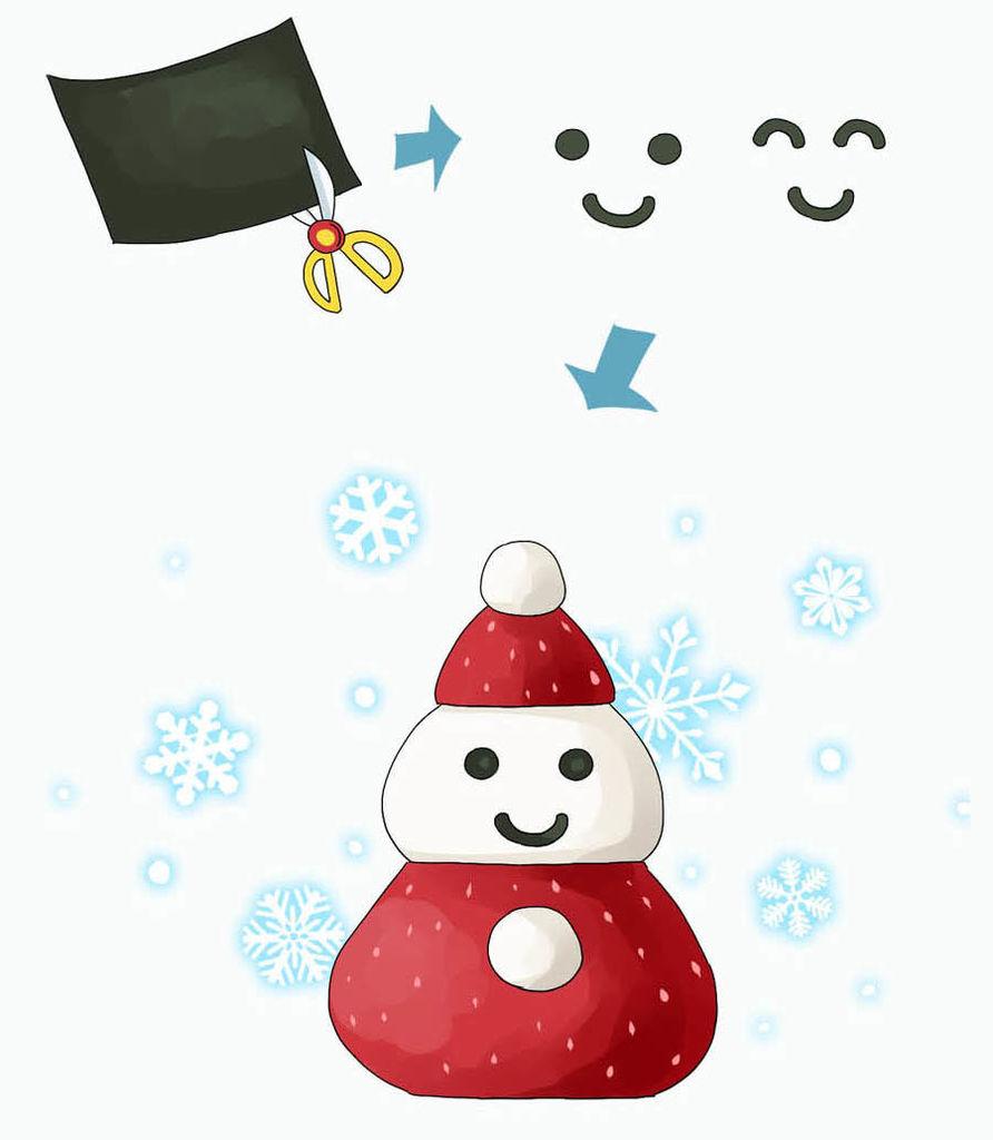 迎接浪漫冬季!草莓小雪人