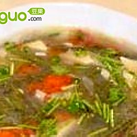 莼菜白玉番茄汤
