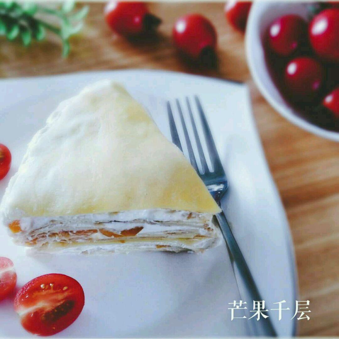 夹心部分糖粉20g 芒果适量 动物性淡奶油400g 芒果千层饼的做法步骤