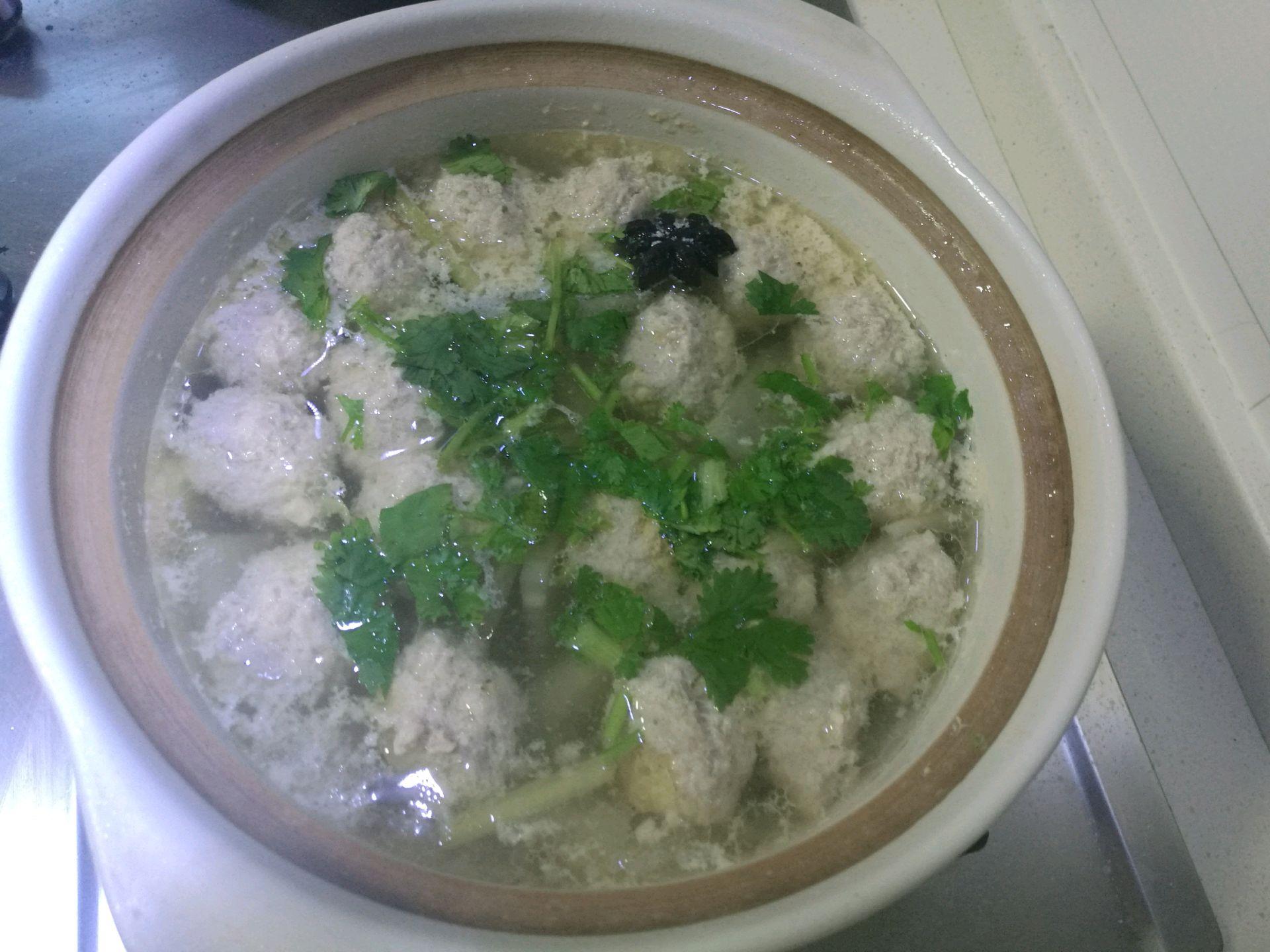 砂锅冬瓜丸子汤的做法步骤