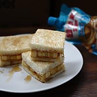 煎花生酱香蕉三明治#趣味挤出来,及时享美味#