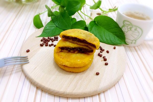 椰蓉南瓜糯米红豆饼