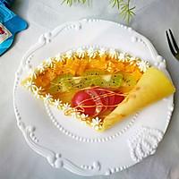 花生酱水果可丽饼#趣味挤出来,及时享美味#
