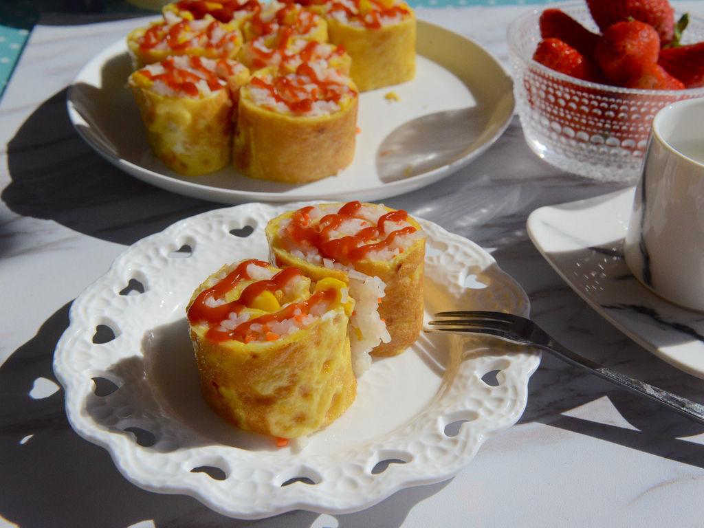 早餐鸡蛋卷的做法图解15