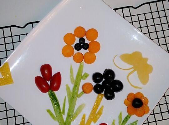 蔬菜水果拼盘的做法