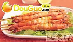 优格鲜虾串烤的做法