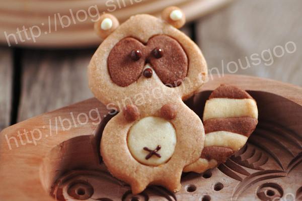 可爱的小浣熊饼干#长帝烘焙节