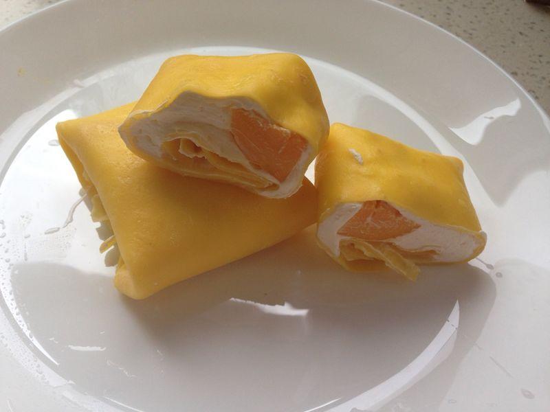 黄油少量 淡奶油200ml 糖适量 芒果1-2个 芒果班戟的做法步骤 分类