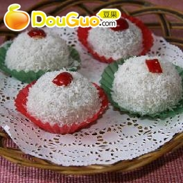 椰香糯米糍的做法