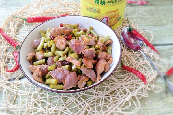 酸豆角炒鸡胗~附 腌酸豆角方法#鲜有赞 爱有伴的做法