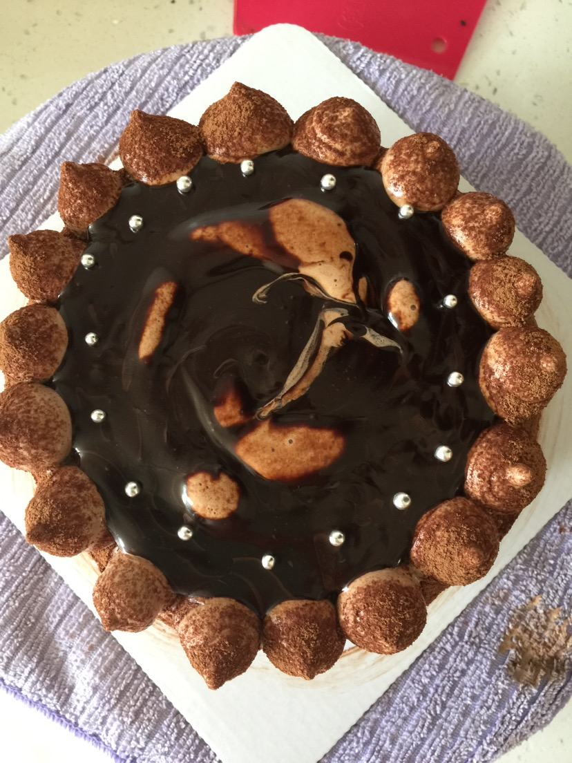 巧克力淋面蛋糕的做法图解3