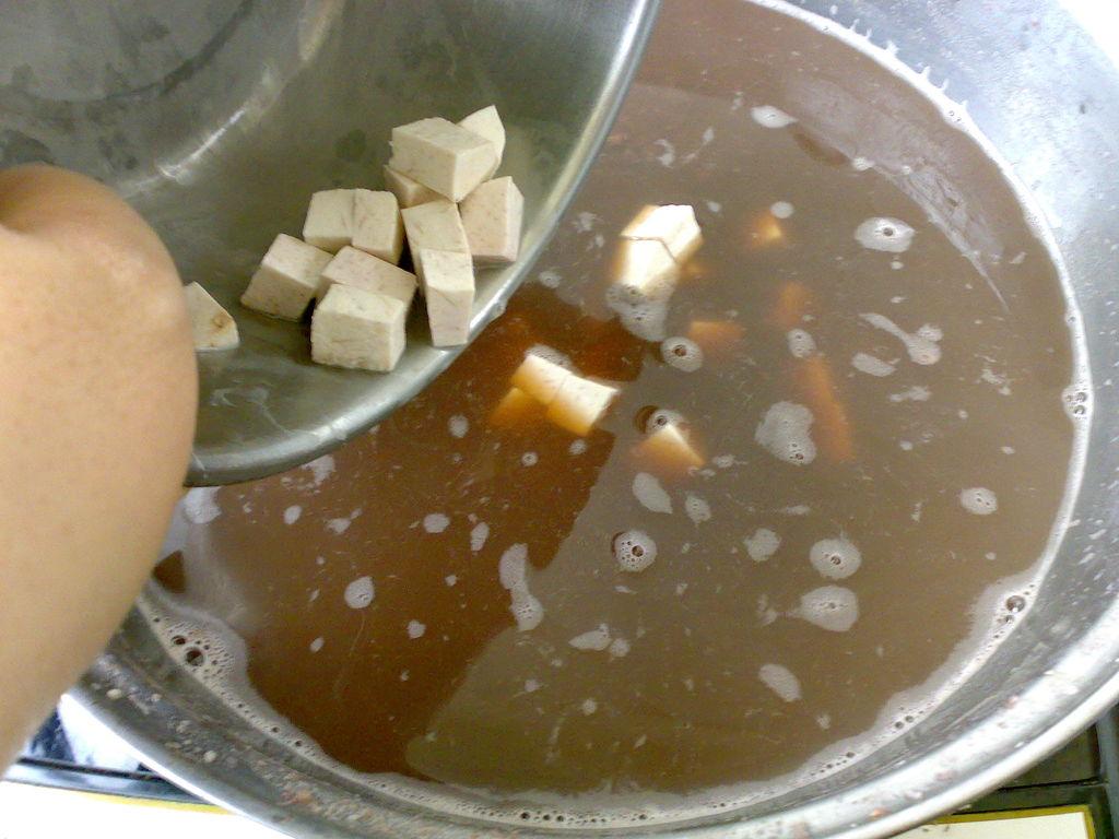 香芋红豆沙的做法图解3