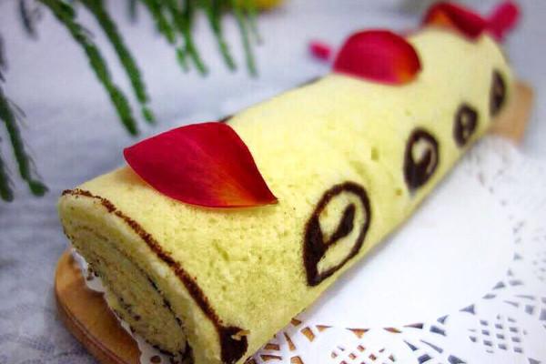"""手绘蛋糕卷#享""""美""""味"""