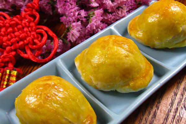 【年夜饭】蛋黄元宝酥的做法