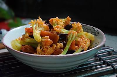 番茄木耳炒菜花
