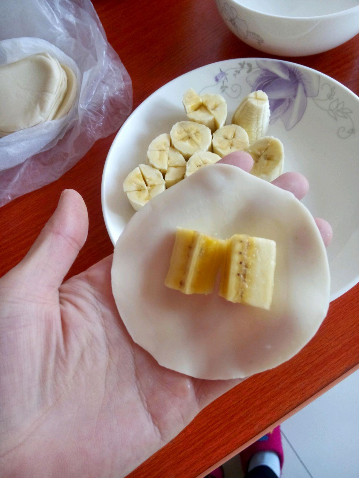 香蕉派(剩饺子皮包香蕉)的做法步骤