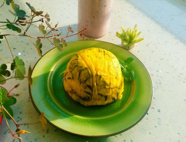 秋葵香椿鸡蛋糕
