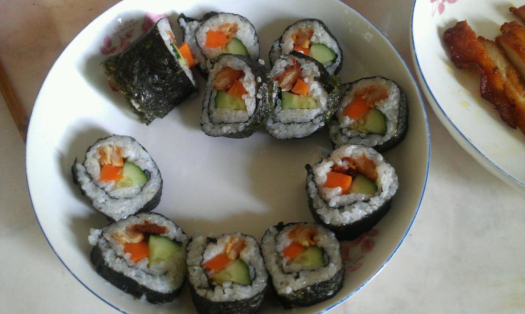 diy紫菜包饭的做法_【图解】diy紫菜包饭怎么做好吃