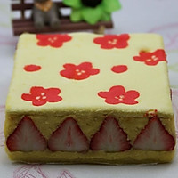 映入眼帘的清新春色草莓系列蛋糕 --- 草莓印花蛋糕