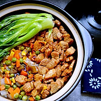 懒人时蔬肉丁煲仔饭